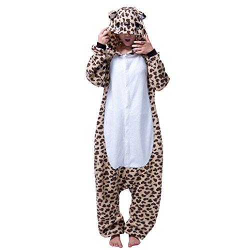 Keral Cosplay Kostüme Tierkostüme Erwachsene Pyjamas Kostüm Pyjamas Leopard Größe (Kostüm Leopard Herren)