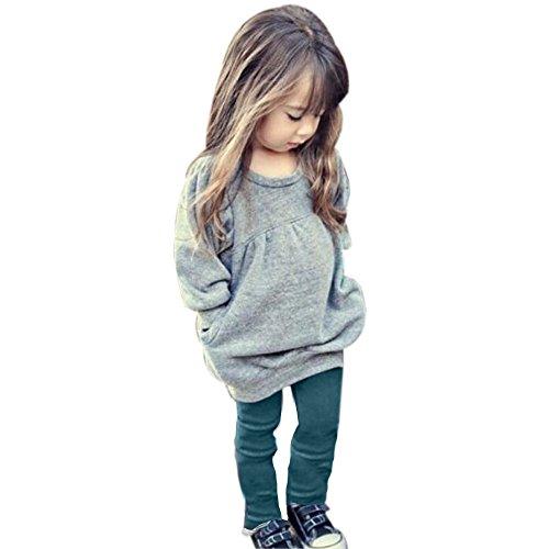 Bluestercool Bambino piccolo Ragazze Clothes Outfit Caldo A maniche lunghe