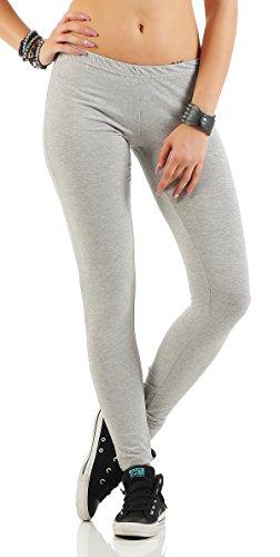 Gennadi Hoppe Damen Leggings Fitness Pant, hellgrau, M