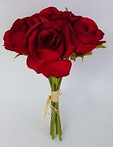 Bouquet Di 7 Rose Medie (Rosso)