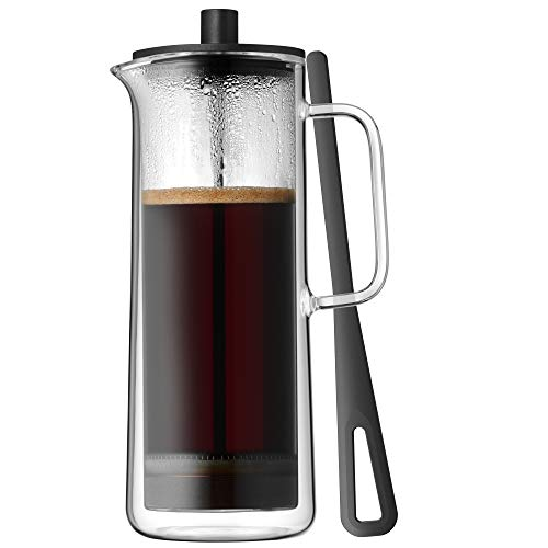 WMF Coffee Time French Press Kaffeebereiter Glas, Cromargan Edelstahl, spülmaschinengeeignet