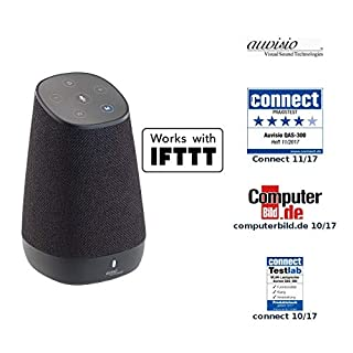 auvisio Lautsprecher, Bluetooth: WLAN-Multiroom-Lautsprecher mit Amazon Alexa und Akku, 30 Watt (Aktive Lautsprecher)