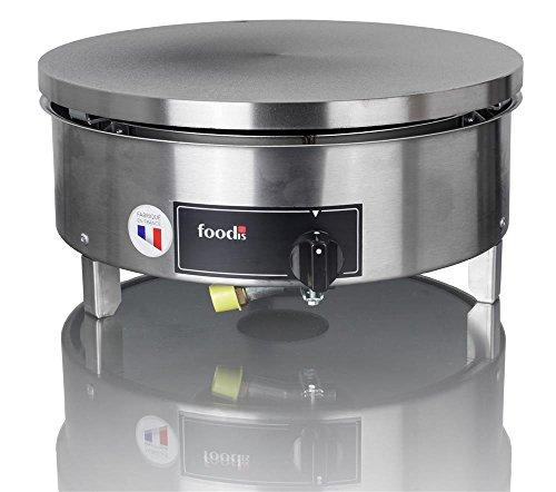 Foodis- -Krampouz Crepera Gas Gama estandar 40cm Ronda Manual de Gas