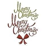Sizzix Set di Fustelle Thinlits 4Pz Buon Natale Effetto Nastro, Multicolor, taglia unica