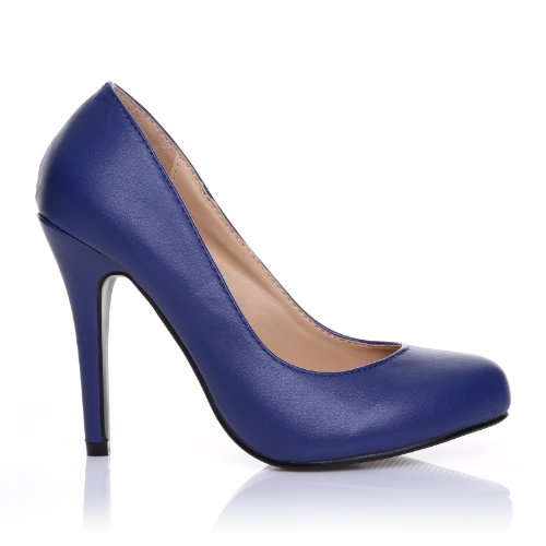 HILLARY Scarpe Decolletè Blu Scure Eleganti Classiche In Simipelle Con Tacco a Spillo Similpelle Blu Navy