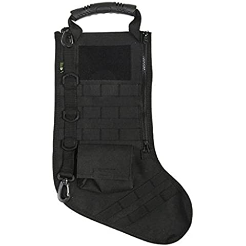 Tactical Christmas Stocking with Molle Gear in Black by RUCKUP
