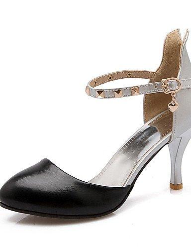 WSS 2016 Chaussures Femme-Mariage / Soirée & Evénement / Habillé / Décontracté-Noir / Jaune / Blanc-Talon Aiguille-Talons-Talons-Similicuir black-us4-4.5 / eu34 / uk2-2.5 / cn33