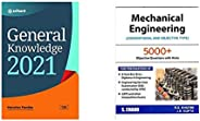 General Knowledge 2021+Mechanical Engineering: Conventional and Objective Types (2018-19 Session)(Set of 2 boo