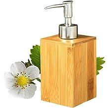 Jabón de bambú cuadrado de la madera y dispensador de la loción Botella de desinfección de