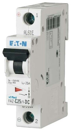 EATON FAZ-C2/1-DC Interruptor Automático Magnetotérmico FAZ-DC, 2A, 1P, Curva C, Caja de...