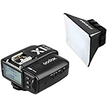 Godox X1T-O TTL Disparador de Flash Dispositivos Flash Transmisor de obturador HSS 32 canales 2.4G para camara de Olympus Panasonic Compatible con Godox TT350-O AD600B AD600BM AD600 AD200 AD600M con TARION DIFUSOR