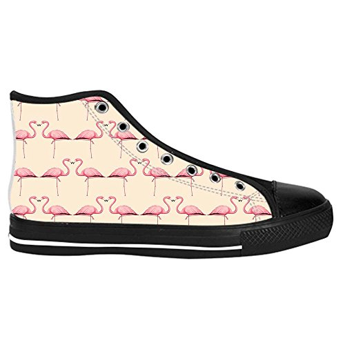 Dalliy Pink Flamingo Men's Canvas shoes Schuhe Lace-up High-top Sneakers Segeltuchschuhe Leinwand-Schuh-Turnschuhe B
