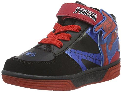 Spiderman Boys Kids Skate/Street High Sneakers, Baskets Basses Garçon Noir - Schwarz (Bk/Bk/Cb/B/R 631)