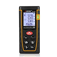 SNDWAY Laser Distance Measure SW-T80 Digital Laser Rangefinder 80M Distance Meter Tape Measure Area Volume with Bubble Level and LCD 4 Line Display