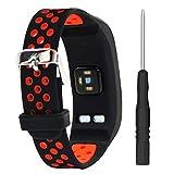 T-BLUER Courroie de Bracelet colorée de Remplacement de Silicone pour Garmin Vivosmart HR avec des Bandes de Forme de fermoirs adaptés à Toutes Les Tailles, Aucun traqueur Inclus
