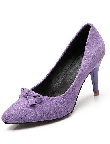 WSS 2016 Chaussures Femme-Mariage / Habillé / Soirée & Evénement-Noir / Rose / Violet / Rouge-Talon Aiguille-Talons-Talons-Laine synthétique / purple-us4-4.5 / eu34 / uk2-2.5 / cn33