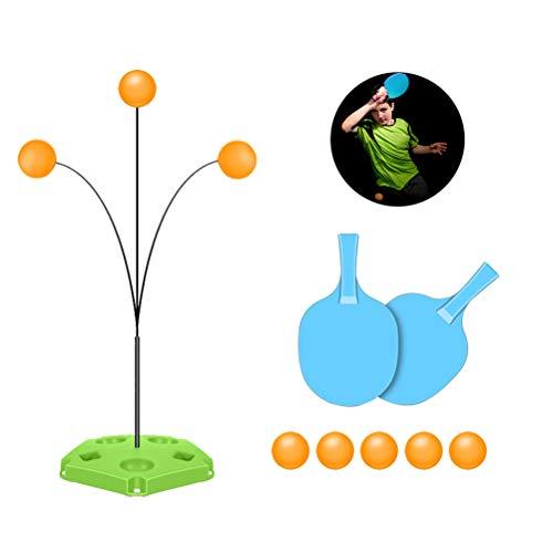 Yissma Tischtennistrainer mit Elastischem, Weichem Schaft Tragbares Tischtennis-Set Ping Pong-Trainingsgeräte für Kinder Selbsttraining