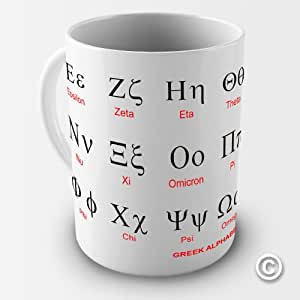 Twisted Envy Greek Alphabet Alpha Education Ceramic Mug