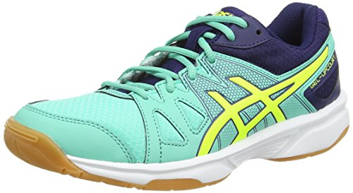 Asics Gel-upcourt, Damen Squashschuhe, Blau (aqua Mint/flash Yellow/indigo 7007), 37.5 EU