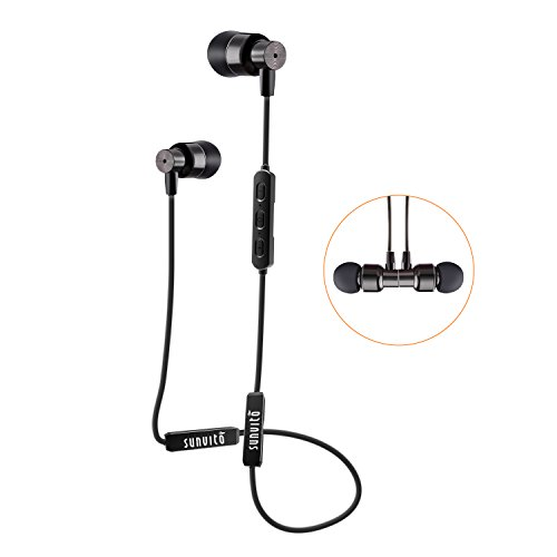 Sunvito Auriculares V4.2 DE Bluetooth Tipo Cuello