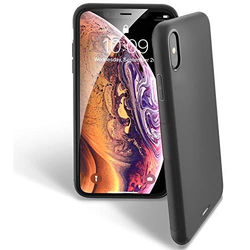 Hülle (UNBREAKcable iPhone X/XS Hülle - Weiche, mattierte TPU Ultra-dünne Stylische iPhone X/XS Handyhülle für 5,8 Zoll iPhone X/XS [Fallschutz, rutschfest] - Matt Schwarz)