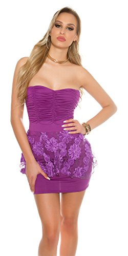 In-Stylefashion - Robe - Peplum - Femme violet lilas taille unique Lilas
