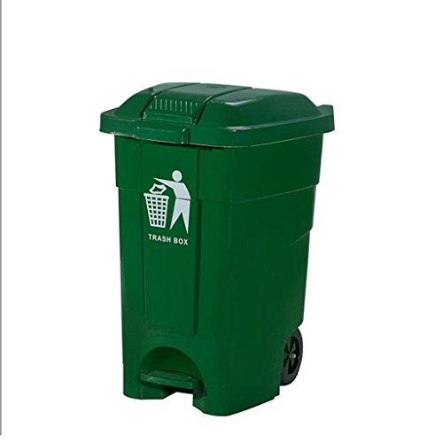 XYFJD Sanitation Mülleimer Abfall Recycling Box 70L Mülleimer Pedal Mit Deckel Große Mülleimer Verdickung Hotel Büro Küche Öffentliche Mülleimer