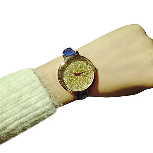 YunYoud Sternenklare Tendenz der zufälligen Temperament-einfachen dünnen Gurt-kleinen frischen Damen-Uhr kleines weisse preiswert uhr billig coole citizen pendeluhr
