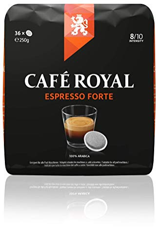 Café Royal Espresso Forte 180 kompatible Kaffeepads für Senseo ®*, Intesität 8/10, 5er Pack (5 x 36 Kaffee-Pads)