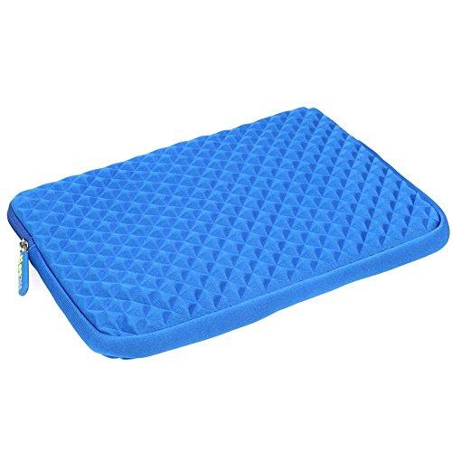 Preisvergleich Produktbild Laptophülle / Evecase Universal Neopren Anti-Schock Laptop Schutzhülle mit Rautenmuster / Diamant-Muster Schaumpolsterung für 11.6 - 12.5 Zoll Laptops Tablets Macbooks Notebooks Chromebook - Blau
