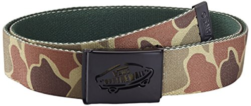 Vans Herren Gürtel Reverse Web Belt Camo/Jungle Grey, One Size -
