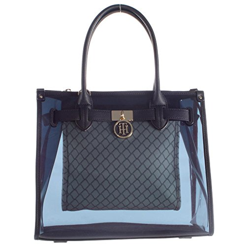 Tommy Hilfiger Handtasche American Icon Tote Transparent Net AW0AW03743 907