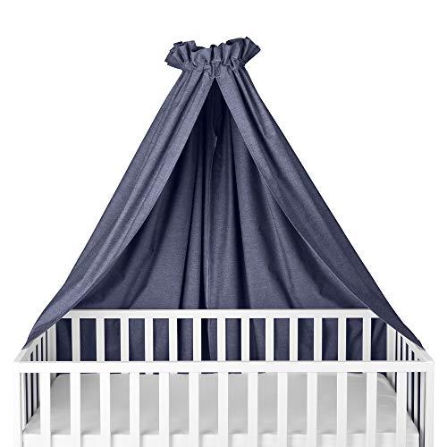 Sugarapple Himmel für Babybetten, Kinderbetten quer verwendbar, Oxford dunkelblau, 100{b2ce7b52eac97e7e9d3675e4b9da2c1202363241ea677e542cd7df9521020911} Öko-Tex Baumwolle, 280x170 cm