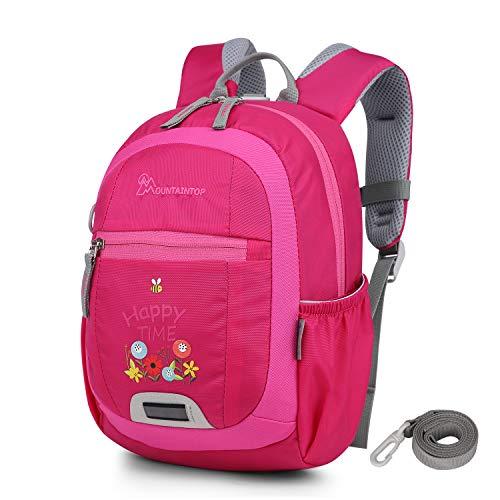 Mountaintop 4.5L Mini Backpack Kinder Kleinkind Rucksack mit Anti-verlorene Bügel,Brustgurt,Namensschild für Baby Kleinkinder, 24 x 31 x 9.5CM (Kleinkind Mädchen Spielen Kleidung)