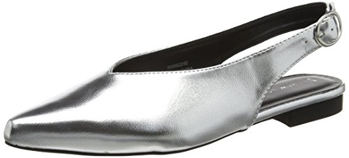 New Look Damen Jonsey Met Sling Backs Silberfarben