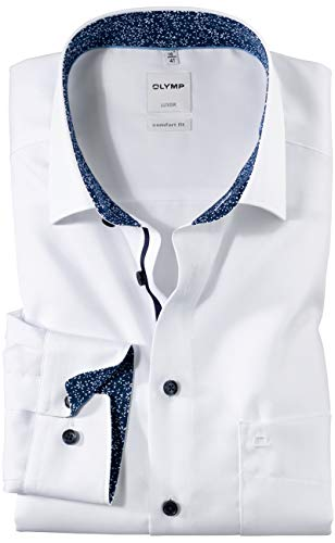 Olymp Herren Businesshemd Comfort Fit Langarm Weiss (10) 45