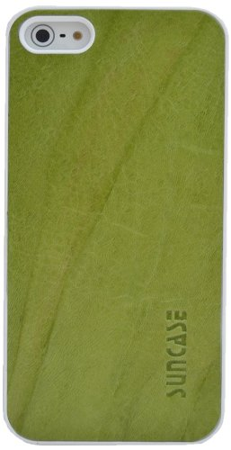 Suncase Étui de protection pour Apple iPhone 5/5S/avec languette d'extraction Vert (délavé)