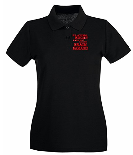 Cotton Island - Polo pour femme OLDENG00467 drain bamage Noir