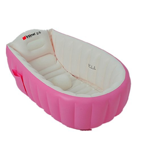 intime-inflatable-baby-bath-tub-baby-children-shower-tub-for-0-3-years-pink