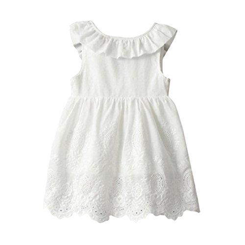 JERFER großen Bogen ärmellosen Tutu Kleider Kleinkind Kinder Baby Mädchen Prinzessin Party Kleidung