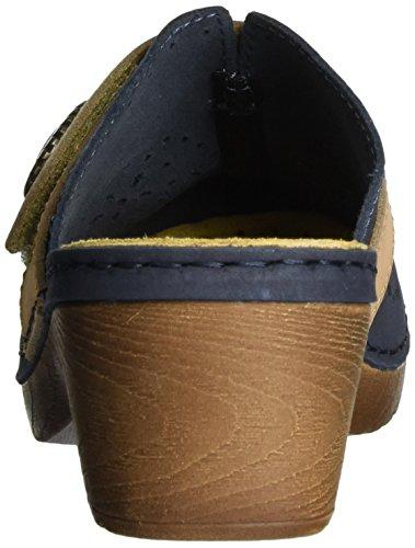 Jana 27303, Sandales Bout Ouvert Femme Bleu (Navy 805)