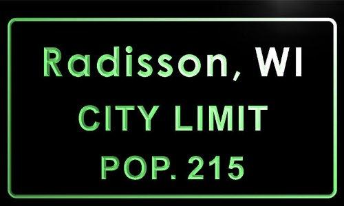 t86095-g-radisson-village-wi-city-limit-pop-215-indoor-neon-sign