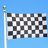 La taille du drapeau est de 150 cm de long et 90 cm de hauteur. Il s·agit d·une bannière tissée 100% polyester pour la rendre plus résistante aux agents météorologiques. L·article est totalement NOUVEAU Il est envoyé en emballage plastique pour essay...