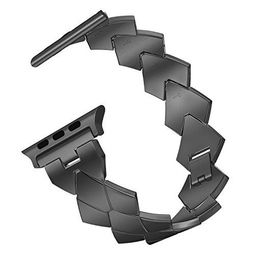 MoKo Armband für Apple Watch 44mm / 42mm Series 4/3/2/1 Band, Kristalldiamant Uhrenarmband Ersatzarmband Handgelenk Strap mit Werkzeug, Armbandlänge 140mm-206mm, Space Grau