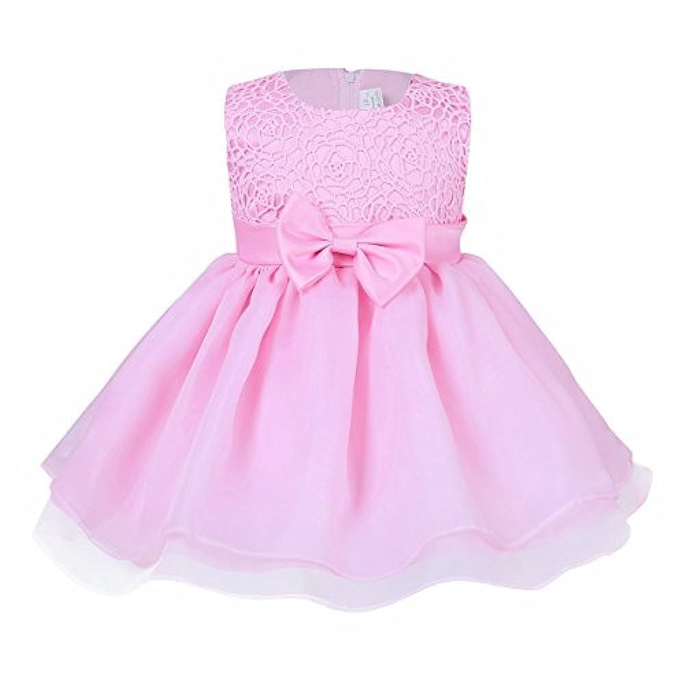 Kinder Mädchen Ärmellos Prinzessin Kleid Für Hochzeit und Geburtstag Partykleid.