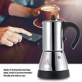 Cafetera eléctrica, 200/300ml Acero inoxidable eléctrico Espresso Café Mocha Pot Enchufe de la UE 220V para uso doméstico en la cocina(300ml)