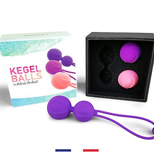 Kegel Ball de Rituel Ardent - Boule de geisha ou œuf de Yoni - rééducation du périnée pour femme et stimulateur musculaire Yoga Gymball