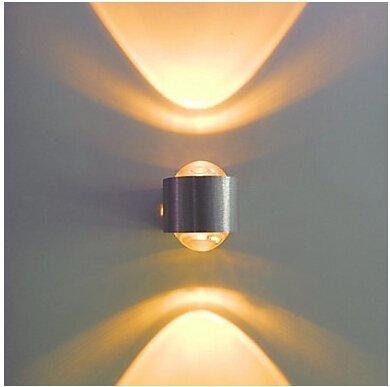 2W Aluminium Moderne LED-Wandleuchte 85-265V up down moderne Wand Wash (2 Metal Parete)