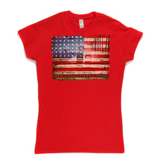 The Bakersfield Sound Womens Fitted T-shirt (red/colour xxlarge)