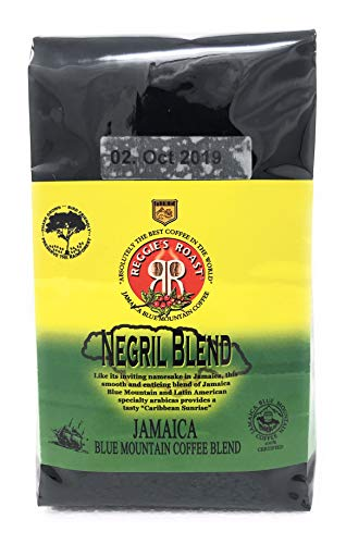 Jamaica Blue Mountain Coffee, Negril Blend Whole Beans Coffee 340g (Borsa) ..